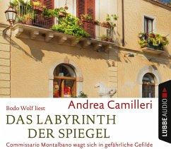 Das Labyrinth der Spiegel / Commissario Montalbano Bd.18 (4 Audio-CDs) - Camilleri, Andrea