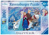 Ravensburger 13610 - Disney Frozen, Glitzender Schnee, Glitter, Puzzle, 100 Teile, XXL