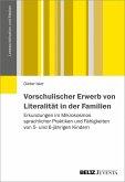 Vorschulischer Erwerb von Literalität in Familien (eBook, PDF)
