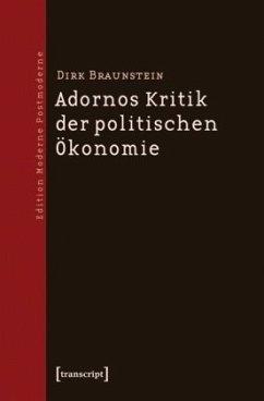 Adornos Kritik der politischen Ökonomie - Braunstein, Dirk