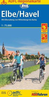 ADFC Regionalkarte Elbe/Havel Magdeburg 1:75.000, reiß- und wetterfest, GPS-Tracks Download