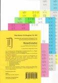 SteuerGesetze Griffregister Nr. 852 (2016): 256 selbstklebende und farbig bedruckte Griffregister für die Steuergesetze