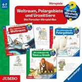 Weltraum, Polargebiete und Urzeittiere - Die Forscher-Hörspiel-Box, 3 Audio-CDs