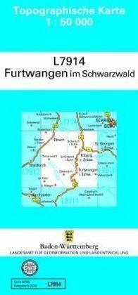 Nordschwarzwald Karte.Topographische Karte Baden Württemberg Zivilmilitärische Ausgabe Furtwangen Im Schwarzwald Topographische Karten Baden Württemberg