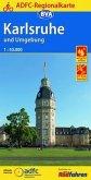ADFC Regionalkarte Karlsruhe und Umgebung mit Tagestouren-Vorschläge 1:50.000, reiß- und wetterfest, GPS-Tracks Download