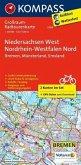Kompass Großraum-Radtourenkarte Niedersachsen West, Nordrhein-Westfalen Nord, 2 Bl.
