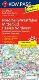 Kompass Großraum-Radtourenkarte Nordrhein-Westfalen Mitte/Süd - Hessen Nordwest, 2 Bl.