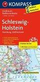 Kompass Großraum-Radtourenkarte Schleswig-Holstein, Hamburg, Ostfriesland, 2 Bl.
