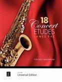 18 Concert Etudes, für Saxophon