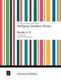 Rondo D-Dur KV Anh. 184 für Flöte und Orchester, Ausgabe für Flöte und Klavier, Klavierauszug