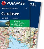 Kompass Wanderkarten-Taschenatlas Gardasee, m. 1 Karte