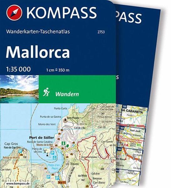 Kompass Wanderkarten Taschenatlas Mallorca M 1 Karte