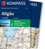 Kompass Wanderkarten-Taschenatlas Allgäu, m. 1 Karte