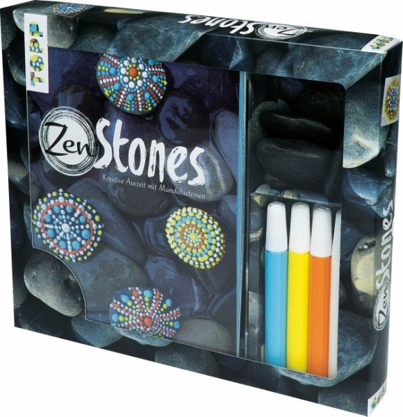Kreativ-Set ZenStones, m 4 Steinen u. 4 Acrylfarben
