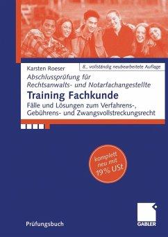 Training Fachkunde (eBook, PDF) - Roeser, Karsten