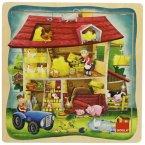 Goula D53097 - Holzpuzzle Bauernhof, 9 Teile