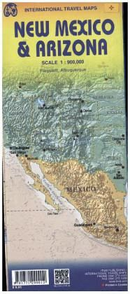 International Travel Map ITM Topographische Karte Arizona & New ...