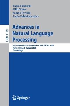 Advances in Natural Language Processing (eBook, PDF)