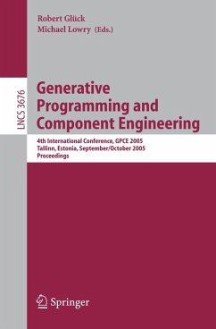 Generative Programming and Component Engineering (eBook, PDF)