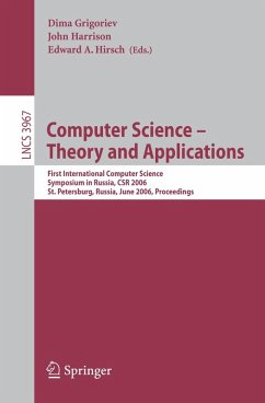 Computer Science -- Theory and Applications (eBook, PDF)