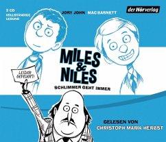 Schlimmer geht immer / Miles & Niles Bd.2 (3 Audio-CDs) - John, Jory; Barnett, Mac