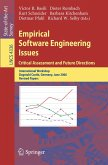 Empirical Software Engineering Issues. Critical Assessment and Future Directions (eBook, PDF)