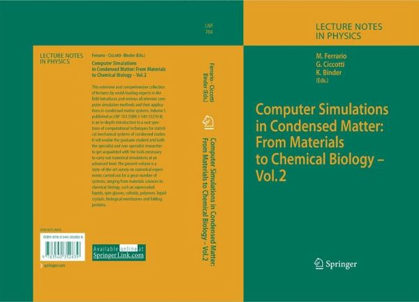 Computer Simulations in Condensed Matter: From Materials to Chemical  Biology  Volume 2 (eBook, PDF)