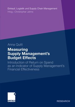 Measuring Supply Management¿s Budget Effects (eBook, PDF)