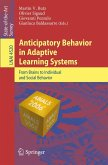 Anticipatory Behavior in Adaptive Learning Systems (eBook, PDF)