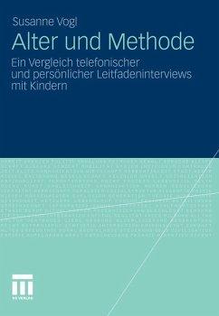 Alter und Methode (eBook, PDF) - Vogl, Susanne