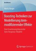 Boosting-Techniken zur Modellierung itemmodifizierender Effekte (eBook, PDF)