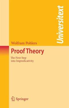 Proof Theory (eBook, PDF) - Pohlers, Wolfram