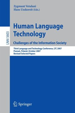 Human Language Technology. Challenges of the Information Society (eBook, PDF)