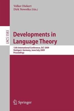 Developments in Language Theory (eBook, PDF)