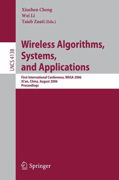 Wireless Algorithms, Systems, and Applications (eBook, PDF)