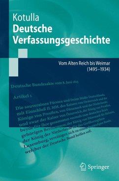Deutsche Verfassungsgeschichte (eBook, PDF) - Kotulla, Michael