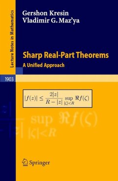 Sharp Real-Part Theorems (eBook, PDF) - Kresin, Gershon; Maz'ya, Vladimir