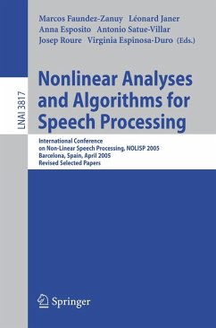 Nonlinear Analyses and Algorithms for Speech Processing (eBook, PDF)