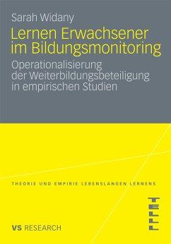 Lernen Erwachsener im Bildungsmonitoring (eBook, PDF) - Widany, Sarah