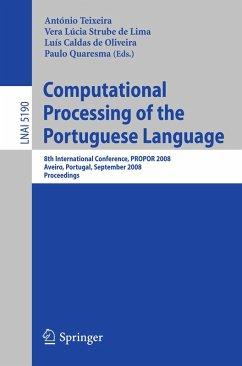 Computational Processing of the Portuguese Language (eBook, PDF)