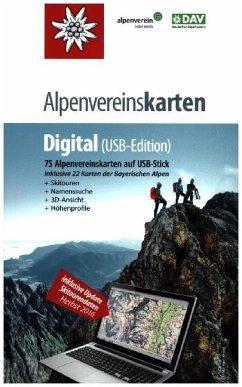 Alpenvereinskarten Digital, USB-Stick (Version 4)