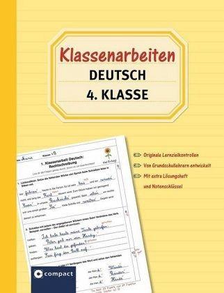 klassenarbeiten deutsch 4 klasse von tanja von ehrenstein
