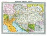 Hist. Karte: ÖSTERREICHISCH-UNGARISCHE MONARCHIE, um 1908 (gerollt)