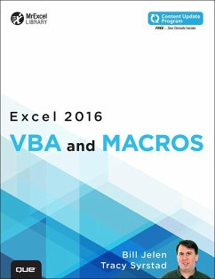 Excel 2016 VBA and Macros (includes Content Upd...