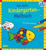 Das dicke Kindergarten-Malbuch: Mit farbigen Vorlagen und lustiger Fehlersuche