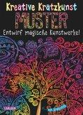 Muster: Set mit 10 Kratzbildern, Anleitungsbuch und Holzstift / Kreative Kratzkunst Bd.3