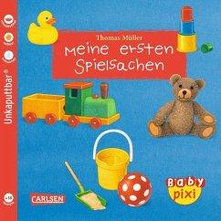 Eines der tollen Baby Pixi Bücher: Meine ersten Spielsachen. Ideal als Babybuch.