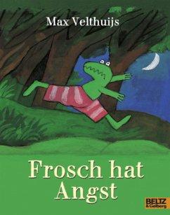 Frosch hat Angst