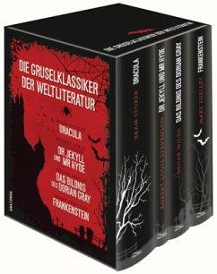 Die Gruselklassiker der Weltliteratur: Frankenstein / Dr. Jekyll und Mr. Hyde / Dracula / Das Bildnis des Dorian Gray - Shelley, Mary;Stevenson, Robert Louis;Stoker, Bram