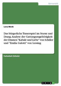Das bürgerliche Trauerspiel im Sturm und Drang. Analyse der Gattungszugehörigkeit der Dramen